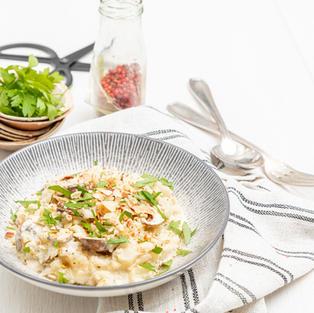 Risotto chou-fleur et champignon