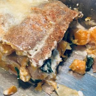 Lasagnes sarrasin courge épinard