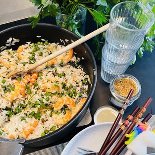 Riz basmati crevette - fleur de sel au curry