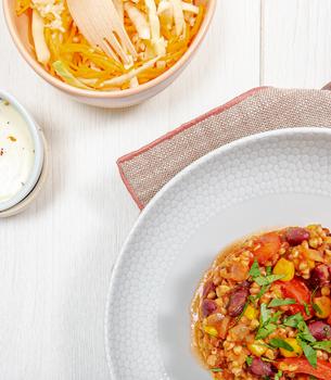 Chili végétarien - graines de sarrasin