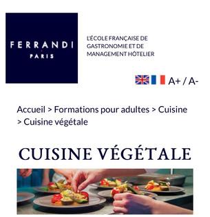École Ferrandi - Formation cuisine végétale