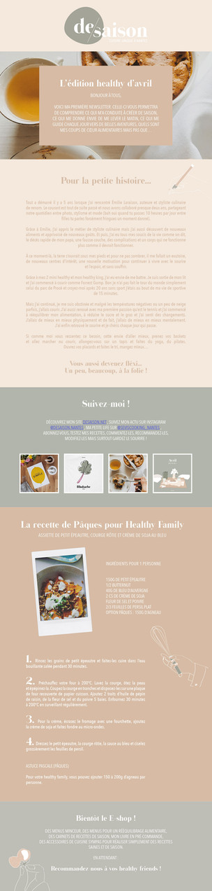 Newsletter n°1 - healthy édition - avril 21
