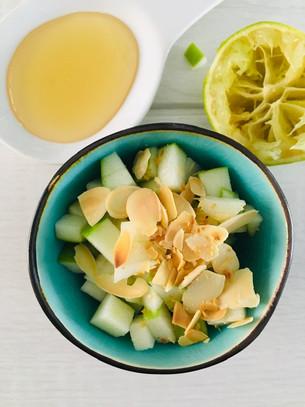 Tartare de pomme verte et amande