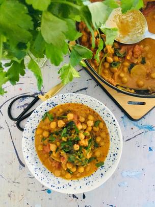 Curry de pois chiche épinard