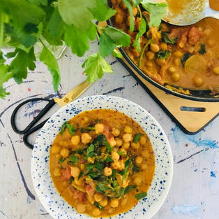 Curry de pois chiche et épinard