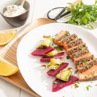 Tataki saumon chia - pickles