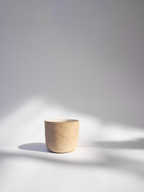 Textured Sand Stoneware Cup With Lava