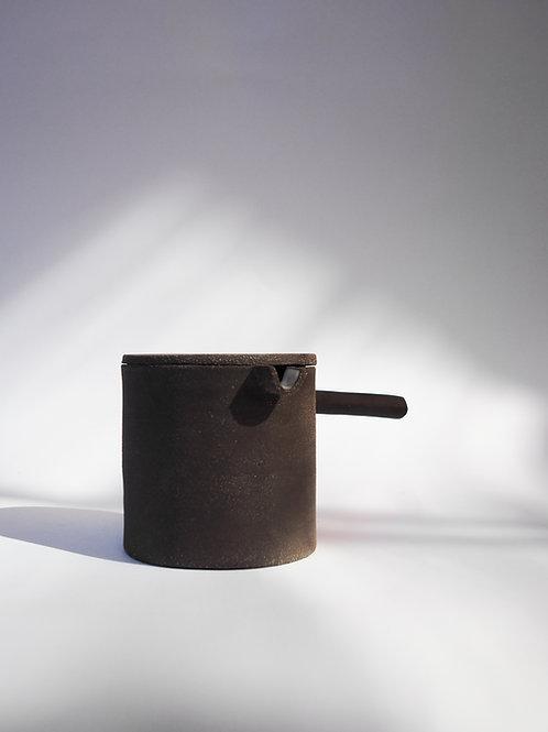 Stoneware Teapot Of Black Body