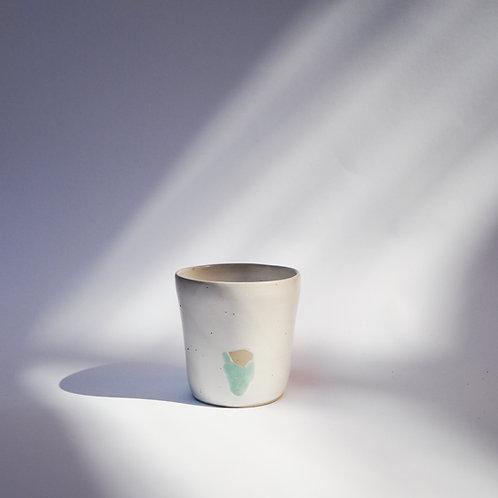 White Stoneware Cup