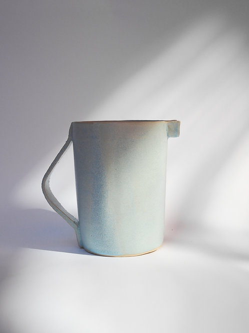 Light Blue Stoneware Jar