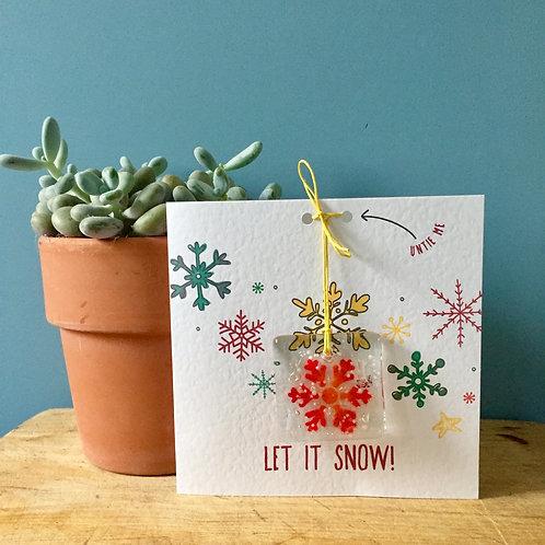 Let it Snow! Present Card (Bright )