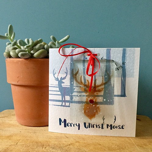 Merry Christmoose ! Present Card