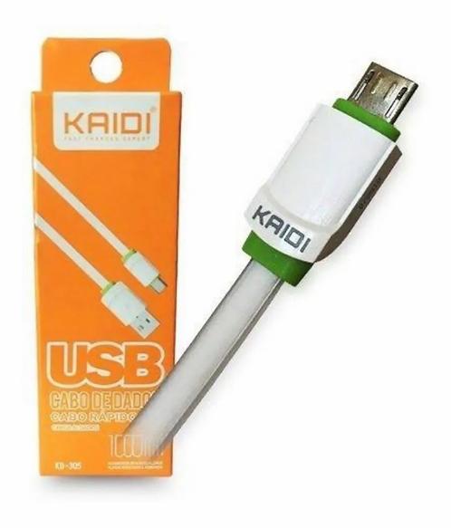 Cabo kaidi V8 Usb  1 Metro KD-305