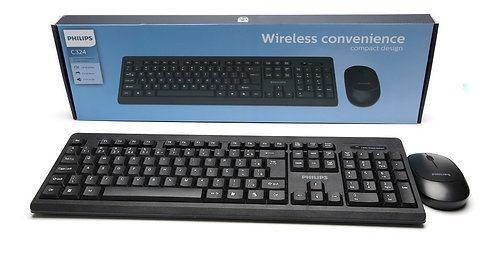 Kit Teclado e Mouse Sem Fio Wireless Philips C324
