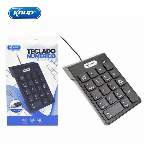 Teclado Usb Numérico Compacto P/ Notebook C/ Fio Knup