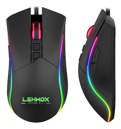 Mouse Gamer Led Rgb e Macro Customizavel - 6400 Dpi  / lehmox GT-M2