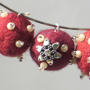 """""""Red Currant"""" necklace"""