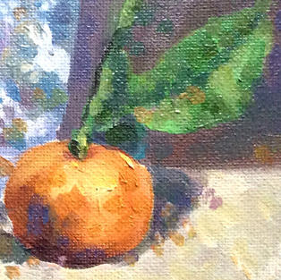 """""""Tangerines and a Blue Cup"""" oil on canvas"""