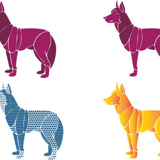 """""""Year of the Dog"""" pattern design"""