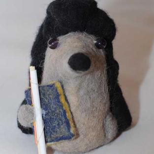 """""""Scholar Hedgehog"""" toy"""