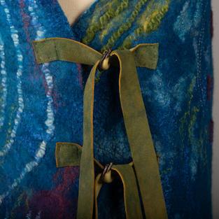 """Blue Labyrinth"" vest"