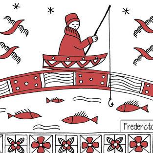 """Fisherman"" post card"