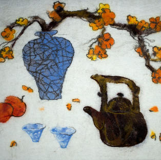 """""""Still-life with a Blue Vase"""" wall hanging"""