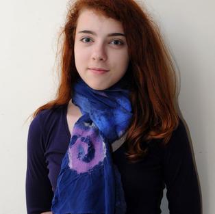 """Purple Night"" scarf"