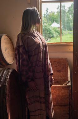 Kimono at the window