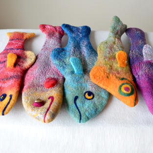 Felted Fishes purses
