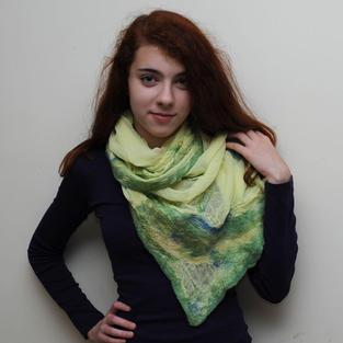 """Sunny Moss"" scarf"