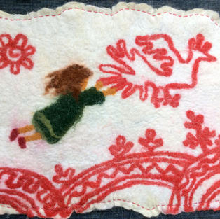 """""""Fly With th Bird"""" wall hanging"""