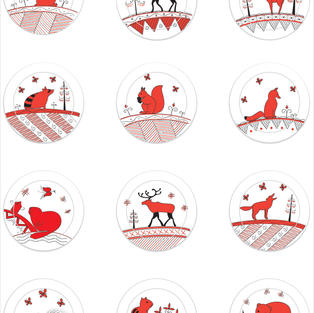 """""""New Brunswick animals"""" buttons design"""
