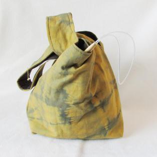 """Green Moss"" project bag"