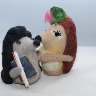 """""""Scholar Hedgehog and His Wife"""" toys"""