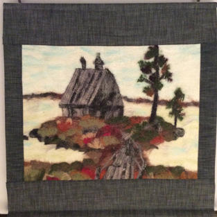 """""""Grey House"""" wall hanging"""