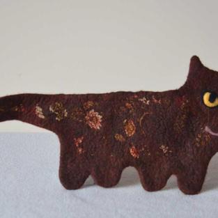 """""""Dark Cocoa"""" cat purse"""