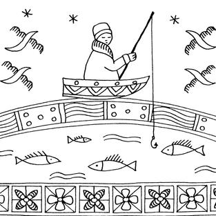 """""""Fisherman"""" coloring card"""