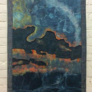 """Sunset Sky"" wall hanging"