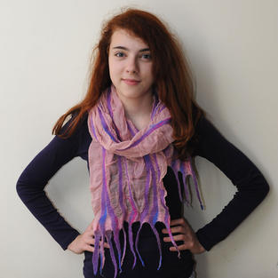 """Pink Splashes"" scarf"