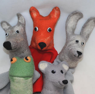 """""""Teremok Fairy tale"""" set of puppets"""