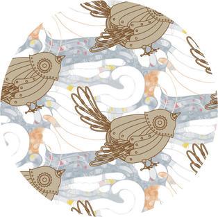 """""""Clockwire bird"""" pattern design"""