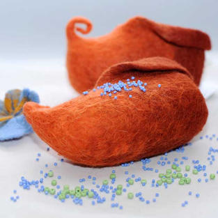 """Curly Orange"" shoes"