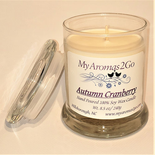 Autumn Cranberry 8.5oz Candle