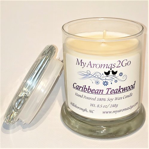 Caribbean Teakwood 8.5oz Candle