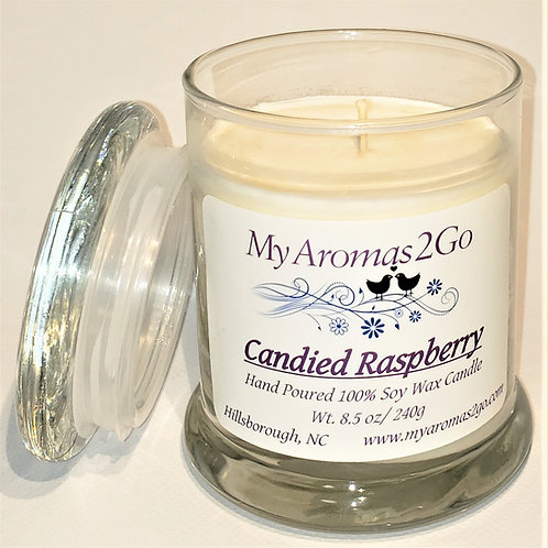 Candied Raspberry 8.5 oz Candle