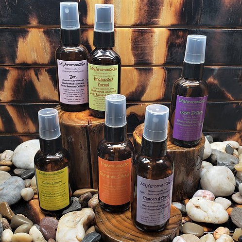 Essential Oil Sprays in 2oz Amber Bottle