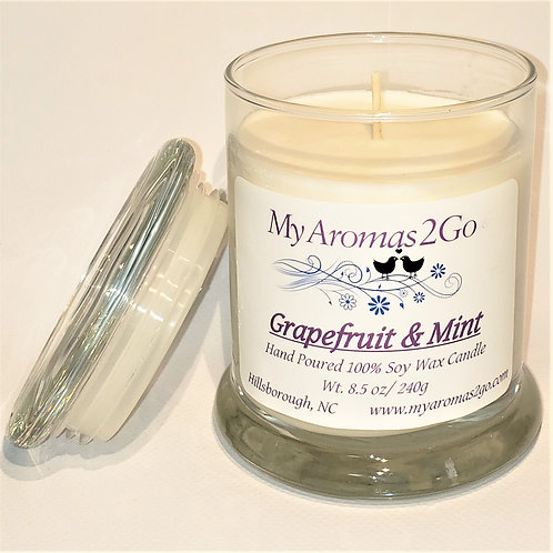 Grapefruit and Mint 8.5oz Candle