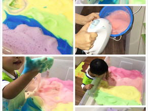 Rainbow foam fun!