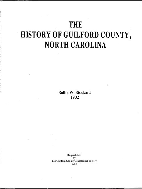 History of Guilford County